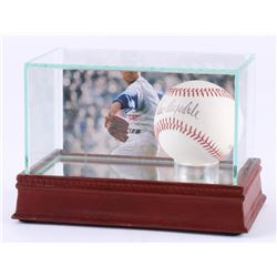 Don Drysdale Signed ONL Baseball with High-Quality Photo Display Case (PSA COA)