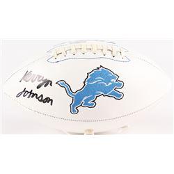 Kerryon Johnson Signed Lions Logo Football (Radtke COA)