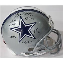 Tony Dorsett Signed Cowboys Authentic On-Field Full-Size Helmet with (5) Inscriptions (Beckett COA)