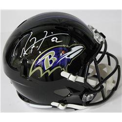 Ray Lewis Signed Ravens Full-Size Speed Helmet (Beckett COA)
