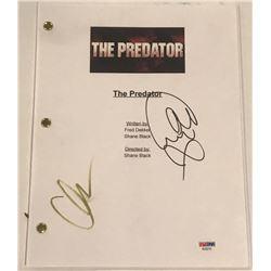 "Olivia Munn  Jacob Tremblay Signed ""The Predator"" Full Movie Script (PSA COA)"