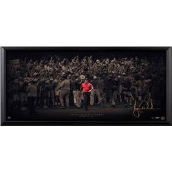 "Tiger Woods Signed ""Moving Forward"" 18x36 Limited Edition Framed Photo Display (UDA COA)"