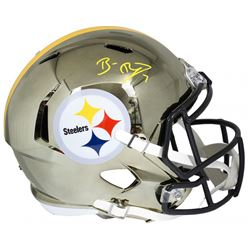 Ben Roethlisberger Signed Steelers Authentic On-Field Full-Size Chrome Speed Helmet (Fanatics Hologr