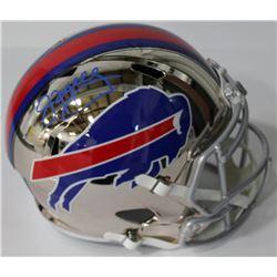 Jim Kelly Signed Bills Full-Size Chrome Speed Helmet (JSA COA)