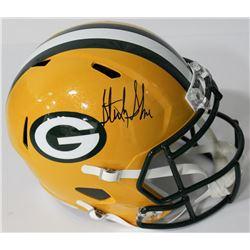 Sterling Sharpe Signed Packers Full-Size Speed Helmet (Beckett COA)