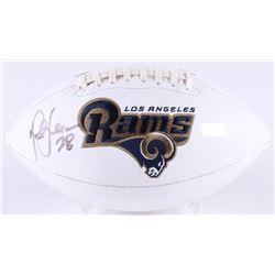 Marshall Faulk Signed Rams Logo Football (Radtke COA)