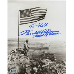 "Hershel W. Williams Signed World War II 8x10 Photo Inscribed ""Medal of Honor""  ""Iwo Jima"" (Beckett C"