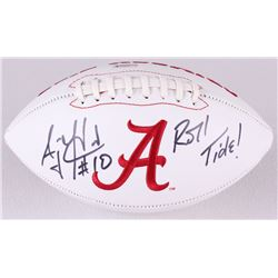 "AJ McCarron Signed Alabama Crimson Tide Logo Football Inscribed ""Roll Tide!"" (Radtke Hologram)"