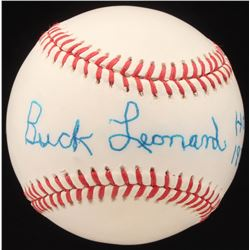 "Buck Leonard Signed ONL Baseball Inscribed ""HOF 1972"" (JSA COA)"
