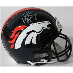 Peyton Manning Signed Broncos Authentic On-Field Full-Size Helmet (Fanatics Hologram)