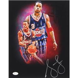 Steve Francis Signed Rockets 11x14 Photo (JSA COA)