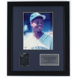 Ken Griffey Jr. Signed Mariners 16x19 Custom Framed Photo Display (PSA COA)