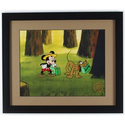 "Walt Disney's ""Mr. Mouse Takes A Trip"" 16x19 Custom Framed Animation Serigraph Display"