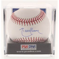 Randy Johnson Signed OML Baseball with Display Case (PSA COA - Graded 10)
