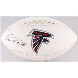 Calvin Ridley Signed Falcons Logo Football (Radtke COA)