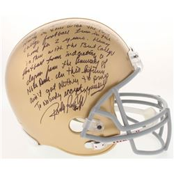 """Rudy Ruettiger Signed Notre Dame Fighting Irish Full Size Helmet with Extensive """"Five Foot Nothing"""""""