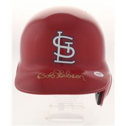 Bob Gibson Signed Cardinals Full-Size Batting Helmet (PSA COA)