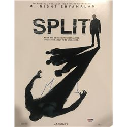 "M. Night Shyamalan Signed ""Split"" 11x14 Photo (PSA COA)"