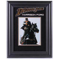 Harrison Ford Signed Indiana Jones 16x20 Custom Framed Photo Display (JSA LOA)