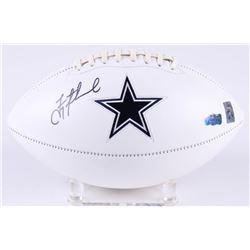 Troy Aikman Signed Cowboys Logo Football (Radtke Hologram  Aikman Hologram)