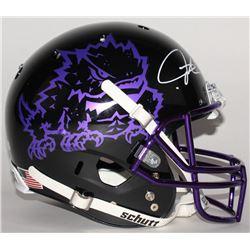 LaDainian Tomlinson Signed TCU Horned Frogs Full-Size Black Helmet (Radtke COA  Tomlinson Hologram)
