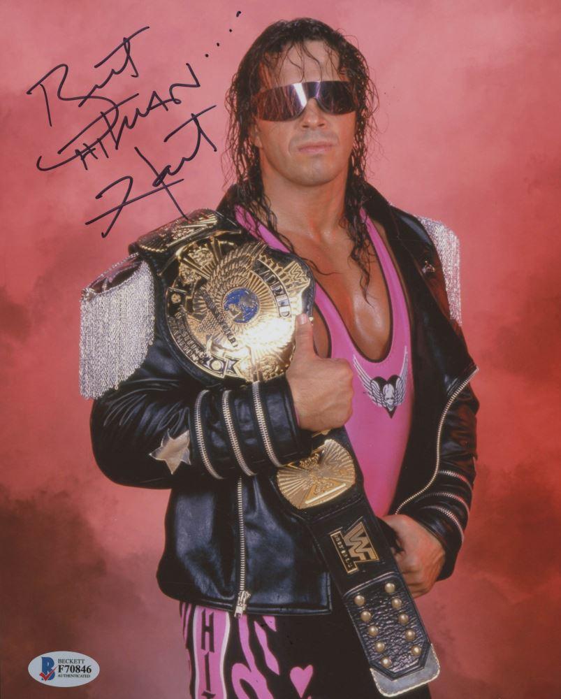 Bret Hitman Hart Signed Wwe 8x10 Photo Beckett Coa