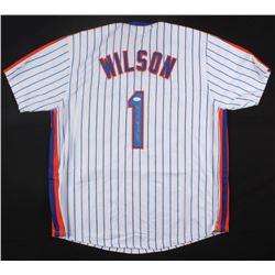 """Mookie Wilson Signed Mets """"Mookie"""" Jersey (JSA COA)"""