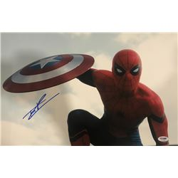 "Tom Holland Signed ""Captain America: Civil War"" 12x18 Photo (PSA COA)"