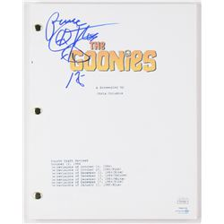 "Corey Feldman Signed ""The Goonies"" Full Movie Script Inscribed ""Peace""  ""18"" (JSA COA)"
