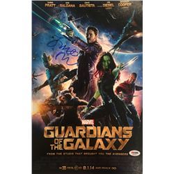 "James Gunn  Chris Pratt Signed ""Guardians of the Galaxy"" 11x17 Photo (PSA COA)"