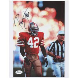 Ronnie Lott Signed 49ers 8.5x11 Photo (JSA COA)