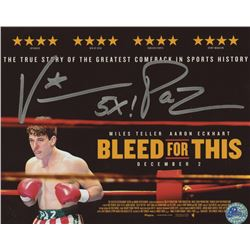 "Vinny Paz Signed ""Bleed For This"" 8x10 Photo (Pro Player Hologram)"