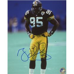 Greg Lloyd Sr. Signed Steelers 8x10 Photo (Pro Player Hologram)