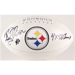 "Rocky Bleier Signed Steelers Logo Football Inscribed ""4x SB Champs"" (Radtke COA)"