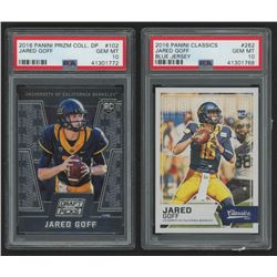 Lot of (2) Jared Goff Graded Football Cards with 2016 Classics #262A RC (PSA 10)   2016 Panini Prizm
