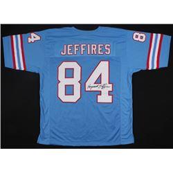 Haywood Jeffires Signed Oilers Jersey (JSA COA)