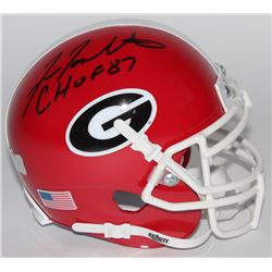 Fran Tarkenton Signed Georgia Bulldogs Mini-Helmet Inscribed  CHOF 87  (Radtke COA)