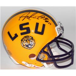 Morris Claiborne Signed Throwback LSU Tigers Mini Helmet (Radtke COA)