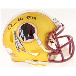 Derrius Guice Signed Redskins Mini Helmet (JSA COA)