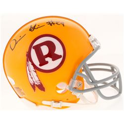 Derrius Guice Signed Throwback Redskins Mini Helmet (JSA COA)