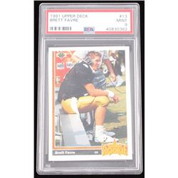 1991 Upper Deck #13 Brett Favre RC (PSA 9)
