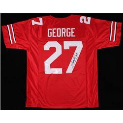 Eddie George Signed Ohio State Buckeyes Jersey (JSA COA)