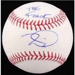 """Tim Lincecum Signed OML Baseball Inscribed """"The Freak"""" (Beckett COA)"""
