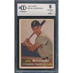 1957 Topps #24 Bill Mazeroski RC (BCCG 8)