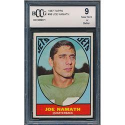 1967 Topps #98 Joe Namath (BCCG 9)