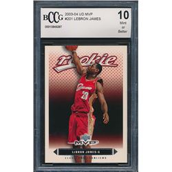 2003-04 Upper Deck MVP Silver #201 LeBron James (BCCG 10)