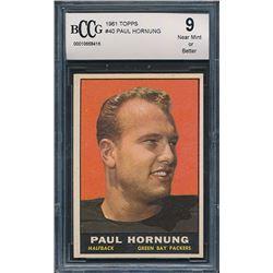 1961 Topps #40 Paul Hornung (BCCG 9)
