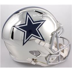 "Emmitt Smith Signed Cowboys Full-Size LE Chrome Speed Helmet Inscribed ""All Time Leading Rusher 18,3"