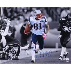 Aaron Hernandez Signed Patriots 16x20 Photo (JSA COA  Sure Shot Promotions)