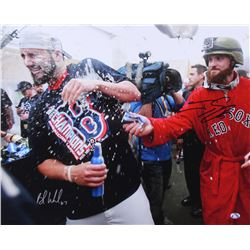 Brandon Workman  Jonny Gomes Signed Red Sox 16x20 Photo (Sure Shot Promotions Hologram)